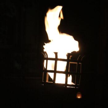 gesteckter Feuerkorb
