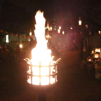 mittelalterlicher Feuerkorb