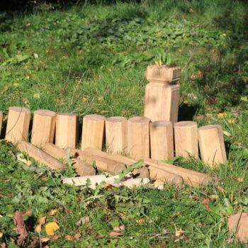 Kubb Eiche Wikingerschach Wikingerspiel Bauernkegeln Stöckchenspiel Schwedenschach Wikingerkegeln