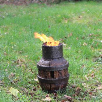 Festausstattung mieten Freiburg Feuerleuchter Otdoor feiern Feuer rustikal
