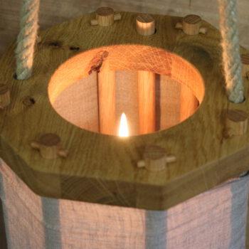 Eichenlaterne kaufen Holzlaterne Rohhautlaterne mittelalterliche Laterne Stecklaterne Massiv Eiche